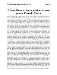 Il dono di una scrittura preziosa - CSV Aurora Crotone