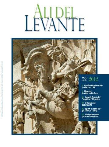 Ali del Levante N.52 Agosto 2012 - Aeroporti di Puglia