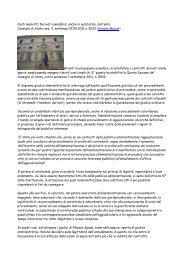 Consiglio di Stato, sez. V, sentenza 07.09.2011 n ... - Franco Crisafi