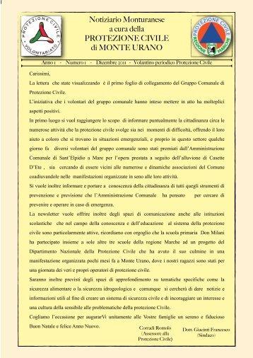 Notiziario di Dicembre 2011 in versione PDF scaricabile