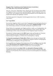 Pressekonferenz - Fliegerclub Weiße Möwe Wels