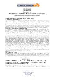 R. GAROFOLI-G.FERRARI, Manuale di diritto amministrativo,