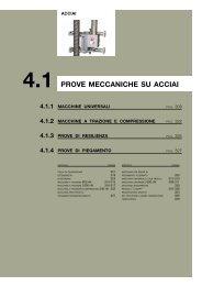 PROVE MECCANICHE SU ACCIAI - Tecnotest