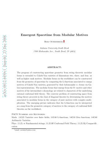 arXiv:0812.4450v1 [hep-th] 23 Dec 2008