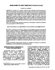 development of inseot resistance to biopesticides - Embrapa