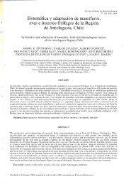 Sistemática y adaptación de mamíferos, aves e insectos fitófagos de ...