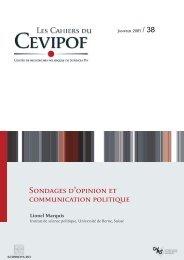 Sondages d'opinion et communication politique - Cevipof