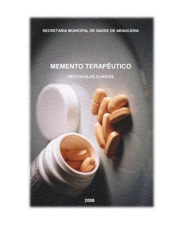 MEMENTO TERAPÊUTICO - Prefeitura do Município de Araucária
