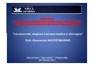 Le emorroidi: diagnosi e terapia medica e chirurgica - Alessandro ...