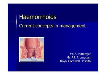 Haemorrhoids - Colorectal Surgeon