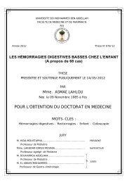 Graphique 1 - Faculté de Médecine et de Pharmacie de Fès