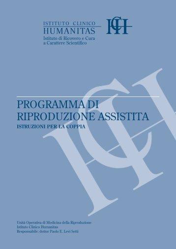 Programma di riproduzione assistita - Istruzioni ... - Humanitasonline