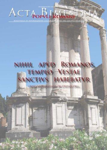 Scarica il pdf - Gruppo Storico Romano