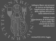 Software libero nei processi di ricerca archeologica: l ... - Linux