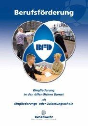 BFD04 Eingliederung in den öffentlichen Dienst mit ... - Bundeswehr
