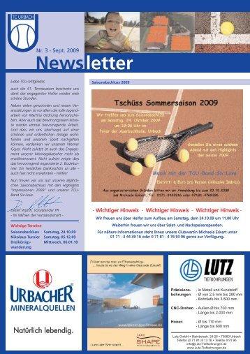 Newsletter 3-2009.qxd - TC Urbach