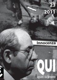 gennaio 2011 - Innocenza - Qui - appunti dal presente