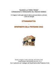 Conoscenza e percezione del rischio sismico - Protezione Civile