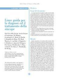 Linee guida per la diagnosi ed il trattamento della sincope - AIAC
