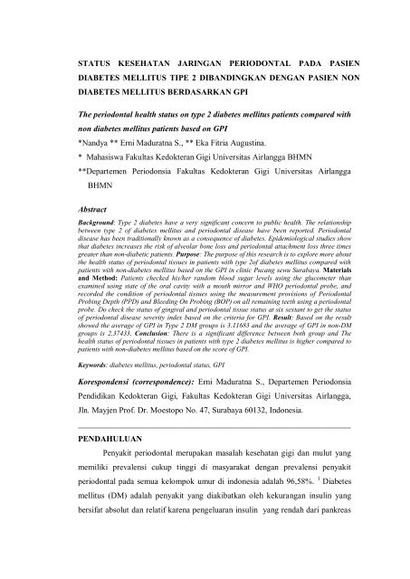 diabetes mellitus jurnal indonesia kedokteran