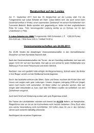Bericht vom Bergturnfest auf der Loreley und ... - TG Schierstein