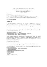 CETOACIDOSE DIABÉTICA* - Faculdade de Medicina da Bahia