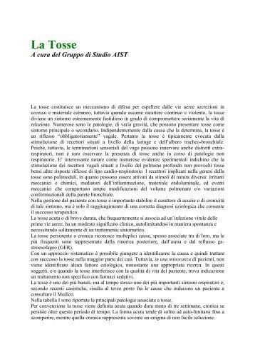La Tosse A cura del Gruppo di Studio AIST - Circuitoaw.It