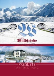 Infos - Hotel Waldfriede