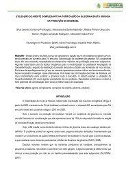 UTILIZAÇÃO DE AGENTE COMPLEXANTE NA PURIFICAÇÃO DA ...