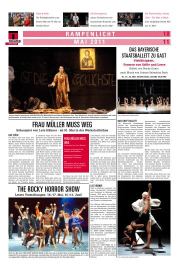 fRaU mÜlleR mUSS WeG THe ROcKy ... - Theater Ingolstadt