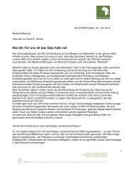Interview mit Hans Rudolf Herren, Medienmitteilung vom 28 - Biovision