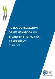 PUBLIC CONSULTATION: DRAFT HANDBOOK ON TRANSFER PRICING RISK ASSESSMENT