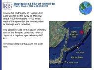 Magnitude 8.3 SEA OF OKHOTSK
