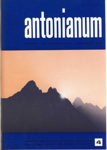 Dicembre '65 - Ex-Alunni dell'Antonianum