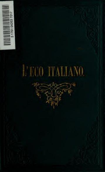 L'eco italiano, fiòre del parlar famigliare e della conversazione civile ...