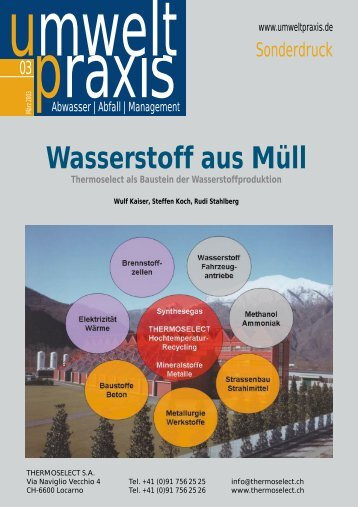 Wasserstoff aus Müll - THERMOSELECT
