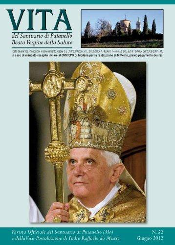 RIVISTA 22 (giugno 2012) - Santuario di Puianello