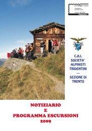 notiziario e programma escursioni 2009 - sat - sezione di trento