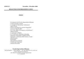 ANNO LV Novembre - Dicembre 2006 BOLLETTINO D ...