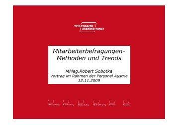 Mitarbeiterbefragungen- Methoden und Trends - Telemark Marketing