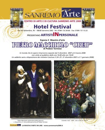 Pietro Macchiolo - Sanremo Arte 2000