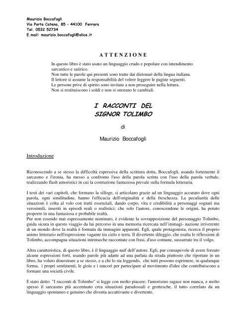 nuovo economico ultimo sconto design distintivo Scarica il libro! (Formato pdf - 1,77 Mb) - Maurizio Boccafogli