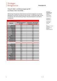 Preisblatt M, PDF, 89 KB - TEN Thüringer Energienetze GmbH