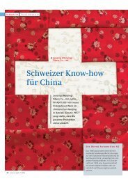 Schweizer Know-how für China - Bhend Automation AG