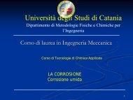 corrosione - dmfci - Università degli Studi di Catania