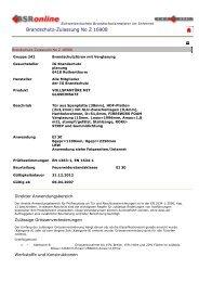 VKF 16908 - IG Brandschutz Brandschutztüren