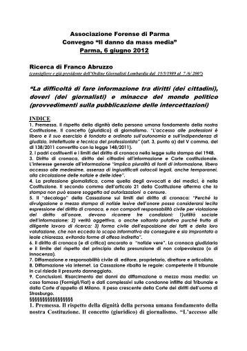 RELAZIONE_Intervento Prof. Franco Abruzzo - Associazione ...