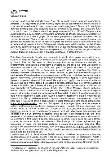 L'Idiot Savant (2001) - Giovanni Cianti