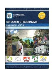 libretto 2013 - CAI – Club Alpino Italiano Sezione di Pieve di Soligo