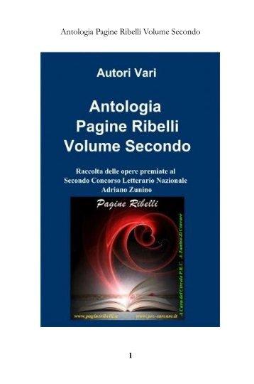Antologia Pagine Ribelli Volume Secondo